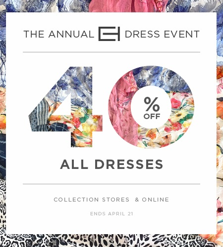 453cd038066 Join Elie Tahari from April 12-24 to receive 40% off all dresses at the Annual  Dress Event.