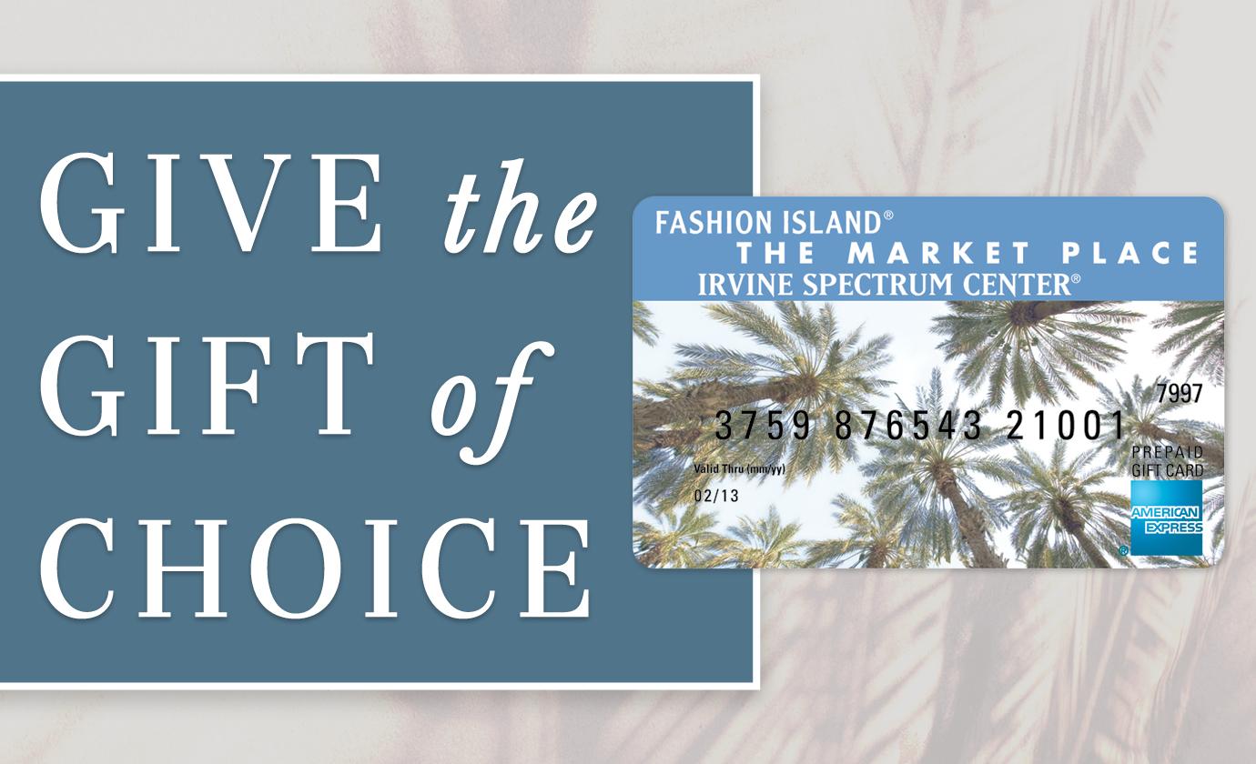 Fashion Island | Shopping Newport Beach | Gift Cards